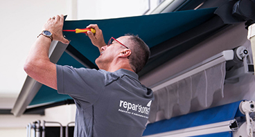 Réparation d´un store extérieur